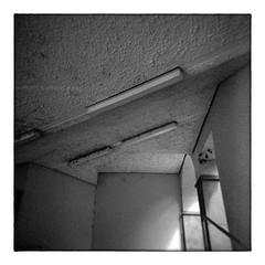 unappetizing geometric beauty (Armin Fuchs) Tags: arminfuchs würzburg film analog kodaktmax400 holga geometry lines lamps 6x6 sqare mittelformat mediumformat 120mm