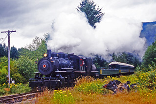 Mount Rainier Scenic Railway 'Porter' 2-8-2 No.5, near Elbe Washington 18August2000.