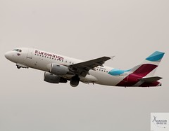 Eurowings (Op by Luftfahrtgesellschaft Walter) A319-112 D-ABGQ taking off at DUS/EDDL (AviationEagle32) Tags: dusseldorf dus dusseldorfairport flughafendusseldorf flughafen eddl germany deutschland airport aircraft airplanes apron aviation aeroplanes avp aviationphotography avgeek aviationlovers aviationgeek aeroplane airplane planespotting planes plane flying flickraviation flight vehicle tarmac eurowings lgw luftfahrtgesellschaftwalter airbus airbus319 a319 a319100 a319112 dabgq takeoff departure