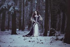 Snow Queen (anjelicahyde) Tags: snow winter beauty darkbeauty photoshop photoshopactions anjelicahyde color fantasy fairy fairytale portrait dream