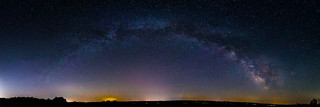 Milky Way Panorama over Penn Yan, Finger Lakes Region of New York State