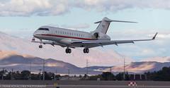 Bombardier BD-700-1A10 landing at KLAS (Alaskan Dude) Tags: travel las klas mccarren mccarreninternationalairport planespotting airplanes airliners airliner aviation planewatching