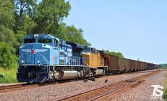 "2/3 UP 1982 ""MOPAC"" Leads WB Empty Coal Drag Bonner Springs, KS 7-15-18 (KansasScanner) Tags: bnsf up fxe mopac 1982 up1982 sd70mac kansascity kansas edwardsville bonnersprings loring train railroad railfanning railfan"