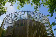Hardelot bamboo theater (JLM62380) Tags: hardelot bamboo theater bambou france architecture geometry lignes