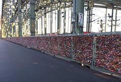 Love-locks (l4ts) Tags: europe germany cologne hohenzollernbridge riverrhine northrhinewestphalia lovelocks padlocks mobilephonecamera sonyxperiaxz