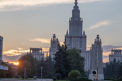 Lomonosov Moscow State University early in the morning