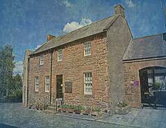 Rabbie Burns' House (Rollingstone1) Tags: robertburns house dumfries dunfriesandgalloway scotland bard poet hame home building architecture texture tree sky clouds artwork art artistic painting rabbie rabbieburns history historical