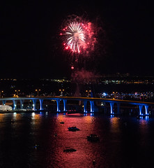 4th of July Fireworks - Miami, Florida (ChrisGoldNY) Tags: chrisgoldny chrisgoldphoto chrisgoldberg sonyalpha florida 4thofjuly fireworks bridges night red independenceday miami intercontinental southflorida celebration patriot america usa sonyimages sonya7rii