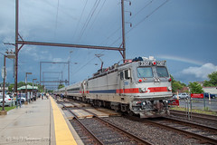 Who Said There's a Pot of Gold At The End of the Rainbow??? (Darryl Rule's Photography) Tags: 2018 aem7 bigoakrd buckscounty cptl catenary edgewoodrd electric express july outbound oxfordvalley pa passenger passengertrain pennsylvania railroad railroads septa summer sun sunny townshiplinerd traian trains westtrentonline yardley