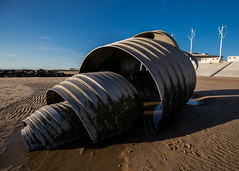 Can, Opened (subterraneancarsickblues) Tags: cleveleys lancashire seaside coast beach marysshell sculpture canon 6d eos6d 1635mm f4l lseries wide wideangle