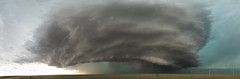 Colorado Panoramic Supercell (Kelly DeLay) Tags: sky clouds nature storm colorado stormchasing panoramic dramatic hail tornado weather hugo unitedstates supercell cloudscape teal plains northernplains