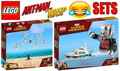 Funny Lego Ant Man and the Wasp Sets !!! (afro_man_news) Tags: lego funny sets minifigures custom all ant man wasp movie moc the scott lang antman ghost hope pym hank bill foster jimmy woo kurt dave marvel superheroes must watch uzman luis magicia