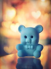 Little Rubber Bear (Carla Mountain Spirit) Tags: rubber bear blue bokeh macromondays erasers carlafreire macrodreams