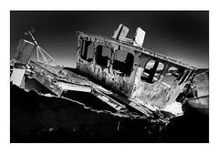 Decay... (Steven Allen2013) Tags: ship ipswich chelmondiston pinmill mono blackandwhite shipwreck wreck boat
