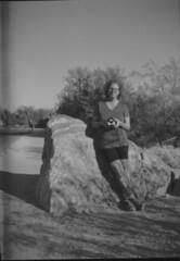 Ansco Cadet 01 (thesnapshotinitiative) Tags: ansco b2 cadet 120 fomapan 100 vintage film camera 1938 sabino lake canyon arizona bw caffenol trail hike