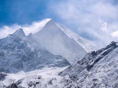 Fishtail mountain, Annapurna, Nepal (CamelKW) Tags: abc annapurnabasecamptrek annapurnaregiontrek annapurnasanctuary fishtail kathmandu mbc machapuchare machapucharebasecamp nepal pokhara trekking