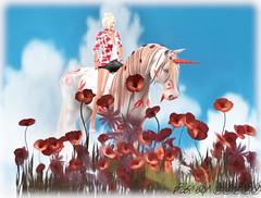 Poppies and Unicorn (4) (Poppys_Second_Life) Tags: 2l picsbyⓟⓞⓟⓟⓨ popi popisadventuresin2l popikone popikonesadventuresin2l poppies poppy sl secondlife unicorn virtualphotography fantasy