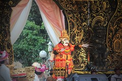 Payangan Festival, Bali (scinta1) Tags: bali ubud payangan culture festival community hindu barong gamelan spectacular colourful authentic traditional traditionaldress gold red exotic asian people men young entrance dance mask topeng udeng carved design hands