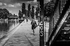 Paris, canal de l'Ourcq, b&w, 2 (Patrick.Raymond (4M views)) Tags: 75019 canal ourcq paris noir et blanc street photo nikon