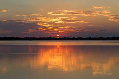 Horseshoe Lake at Sunset (Mike Matney Photography) Tags: 2018 canon eos6d horseshoelake illinois july midwest clouds sky sunset weather pontoonbeach unitedstates us