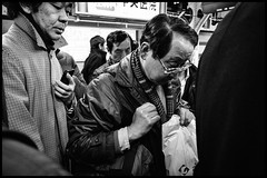 Shinjuku Station, JR, Shinjuku-ku, Tōkyō-to (GioMagPhotographer) Tags: tōkyōto ricohgr metrostation peopleclose eastofthesun shinjuku japanproject japan shinjukuku tokyo tkyto