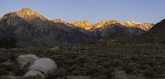 Portal to The Old Man (courtney_meier) Tags: alabamahills california easternsierra highsierra lonepine lonepinepeak mountwhitney sierranevada tumanguya whitneyportal alpenglow granite highcountry magichour morning morninglight mountains panorama sunrise veryoldman