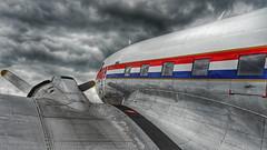 In the air tonight (RainerSchuetz) Tags: plane aircraft aeroplane propellarplane dakota dakotadc3 phpba prinsesamalia historic