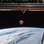 A dice floating in front of one of the windows in the Cupola of the Earth-orbiting International Space Station. Original from NASA. Digitally enhanced by rawpixel. thumbnail
