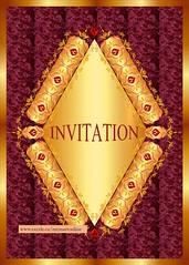 Diamond design Invitation card in classic style decorations (cyrusmorr) Tags: invitation card beautiful classic stylish diamond gold decorative ornate