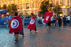 Tunisia fans in Moscow (gubanov77) Tags: tunisia tunisiafans celebration city fifa life moscow moscowphotography outdoor russia redsquare street streetscape summer flags tourism travelphotography tunisianflag travel worldcup worldcuprussia москва россия чемпионатмирапофутболу 2018fifaworldcuprussia football footballfans