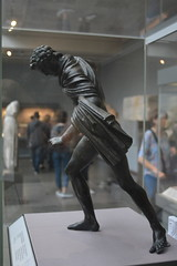 London, England, UK - British Museum - Ancient Greece and Rome - BRonze Statuette of a Huntsman, 300-100 BC (jrozwado) Tags: europe uk unitedkingdom england london museum britishmuseum history culture anthropology sculpture statue huntsman