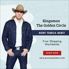 Kingsman The Golden Circle Agent Tequila Jacket (Prostar Jackets) Tags: agent tequila jacket kingsman the golden circle denim denimjacket channing tatum taquila