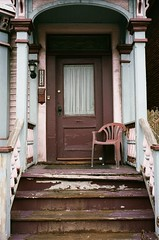 The lost art of the porch. (karstenphoto) Tags: paint leitz rangefinder m2 leica frontporch michigan detroit ishootfilm film analog ektar kodak 35mm
