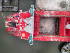 Port of Coeymans (milfodd) Tags: april 2018 hdr aerialphotography quadcopter dji drone phantom4pro port portofcoeymans sbisubaru bulkcarrier