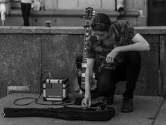 When the party's over (rsvatox) Tags: saintpetersburg streetphotographer musician people streetphotography russia streetlife guitar