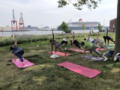 Yoga at the Field with Meredith 7.1.18