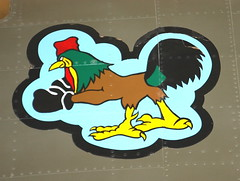 Fighting Rooser Logo (Jay Costello) Tags: pimaairandspacemuseum tusconaz tuscon arizona military airplane rooster nose art logo chicken