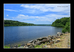 Wachusett Reservoir (Peter Camyre) Tags: camera canon colorful blue water pretty beautiful massachusetts westboylston wachusett reservoir peter camyre photography