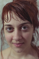 [eleni No2] (Chrisacos) Tags: obscura lab rethymno rethimno portrait eleni red hair eyes shower smile girl