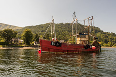 Ardentinny Trawler From The Water (Click And Pray) Tags: managedbyclickandpraysflickrmanagr lochlong loch lake landscape horizontal argyll scotland ardentinny boat trawler red ba61 lochlonglochlakelandscapehorizontalargyllscotlandardentinnyboattrawlerredba61gbr