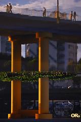 Pilars (Otacílio Rodrigues) Tags: ponte bridge pilares pilars pessoas people reflexos reflections vegetação vegetation água water carros cars prédios buildings arquitetura architecture árvores trees urban resende brasil oro