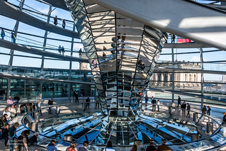 Interior of Reichstag dome, Berlin, Germany