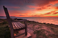 A beautiful place to rest.... (Mark Leader) Tags: bench place beautiful rest barricane beach bay north devon cornwall sunset dusk setting sun