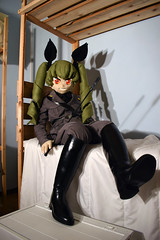I'm Anchovy! (Doll Architect) Tags: ガールズパンツァー アンチョビ アンツィオ高校 girlsundpanzer gup anchovy anzio girls panzer doll riding boots whip military uniform