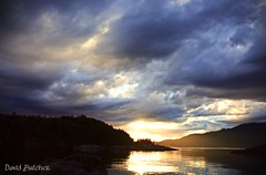 Weather the Storm (Just Call Me Dave) Tags: canada summer water hardyisland britishcolumbia clouds sunset purple storm ef2470mmf28liiusm cloudy