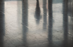 Floor Reflections and Silhouettes (dejankrsmanovic) Tags: entrance reflection silhouette shape abstract floor tile hall building architectural structure flat surface plane gray color simple simplicity colorless somebody human shade shadow sign entering person concept conceptual sparse