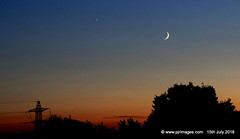 1191. Celestial Sunset. (PJR-Images. (Moments In Time)) Tags: sky sunsets sunsetssolar moon celestial