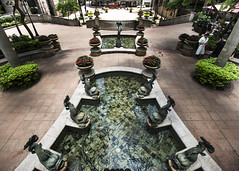 Hong Kong  Grand Millennium Courtyard (fantommst) Tags: lisaridings fantommst hk hongkong china island cityscape urban sights fish fountain water courtyard tidy grand millennium plaza