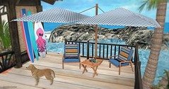 Saint Tropez Patio (Sannita_Cortes) Tags: beedesigns casadebebe decor decoration furniture home house swank tropical building decorating furnituredecor houseshomes secondlife nature sl virtualdecoration virtualfurniture serenitydesigns landscaping beach summer ocean