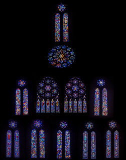 grace cathedral stained glass windows collage